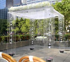 Lucite / Acrylic Wedding Structure - For purchase or RENT - 8' tall x 8' square, fully decor-atable Chuppah, Mandap Arch, Walk way- Stunning