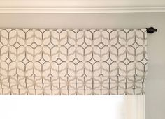 More colors available! Magnolia Home Fashions Rockaway Pewter. Beige and grey. Valances For Living Room, Faux Roman Shades, Premier Prints, Magnolia Homes, Ribbon Colors, Valance Curtains, Cornice, Kitchen Curtains, Flat