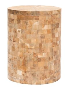 Round and wood mosaic stool (I say table, though...)