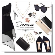 """""""Dream... a little dream of me"""" by snowflake-city ❤ liked on Polyvore featuring David Koma, Clare V., Christian Dior, FingerPrint Jewellry, Love Quotes Scarves, Michael Kors, Borghese and Bobbi Brown Cosmetics"""