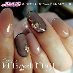 Nails 冬/クリスマス/オフィス/パーティー/ハンド - migel_nailのネイ. Gorgeous Nails, Love Nails, Pretty Nails, Korea Nail Art, Nail Art Techniques, Japanese Nail Art, Simple Nails, Winter Nails, Nail Arts