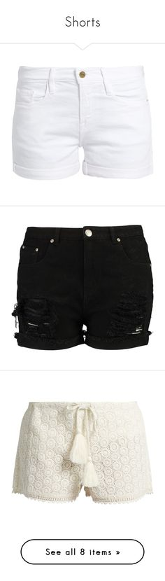 """""""Shorts"""" by lustydame ❤ liked on Polyvore featuring shorts, bottoms, short, short shorts, cuffed denim shorts, denim shorts, cutoff shorts, cuffed shorts, distressed denim shorts and plus size ripped shorts"""