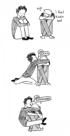 This is what friends are for....to hug you like sloths when you are sad