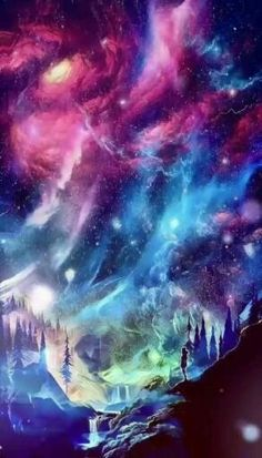Galaxy sky moving background wallpaper