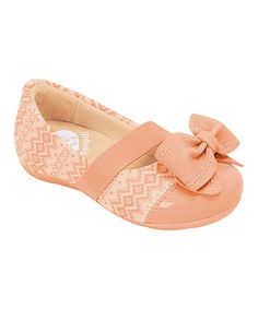 Pampili Pink Tribal Bow Flat by European Trends: Kids' Shoes on #zulily today!