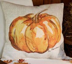 Painted Pumpkin Patch Outdoor Pillow | Pottery Barn