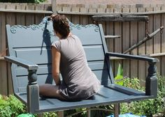 DIY Porch Swing Featuring a Repurposed Headboard! – The Owner-Builder Network