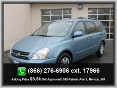 2006 Kia Sedona LX Mini-Van   In-Dash Single Cd Player, Power Remote Driver Mirror Adjustment, Braking Assist, Rear Leg Room: 40.9, Anti-Theft Alarm System, 4 Door, Max Cargo Capacity: 141 Cu.Ft., 3Rd Row Leg Room: 34.0, Total Number Of Speakers: 6, Cupholders: Front And Rear, Rear Air Conditioning With Separate Controls, Power Remote Passenger Mirror Adjustment, 897 Lbs., Overall Height: 69.3