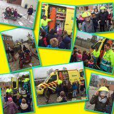 Startblok Groep 1/2b | De ambulance op school. En wij mochten een kijkje nemen!