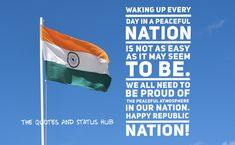 Share these quotes with your fellow countrymen to ignite the feeling of patriotism. Good Morning Beautiful Quotes, Morning Inspirational Quotes, Indian Flag Quotes, Quotes On Republic Day, Patriotic Quotes, Meaningful Conversations, Wish Quotes, Facebook Image, English Quotes