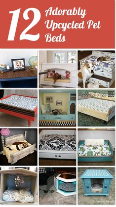 12 adorably upcycled pet beds for your pampered pets! http://www.hometalk.com/l/Idi