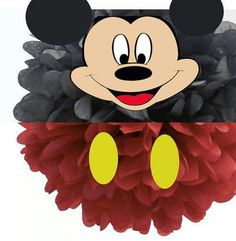 Disney Mickey Mouse Tissue Paper Pom Pom by IsabellasPrints Tissue Pom Poms, Tissue Paper, Disney Mickey Mouse, Minnie Mouse, Graduation Crafts, Banner, Under The Sea Theme, Mickey Party, Mouse Parties