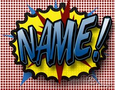 Personalized Super Hero Comic  Wall Art  Customize with any name.  www.suchsuperstuff.com  Cool idea for that Batman Boy's room or nursery!  $27