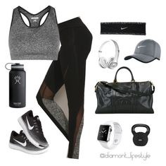 """Sport look"" by evelinvalenciagomez on Polyvore featuring moda, Ivy Park, NIKE, Hydro Flask, Chanel y Apple"