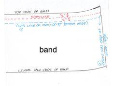 FQ skirt adding seam allowance to band