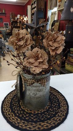 Primitive Country Flowers                                                                                                                                                                                 More #PrimitiveDecor