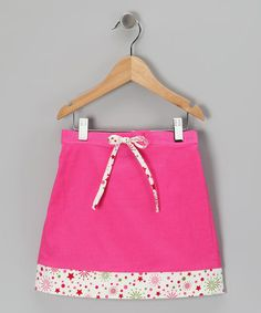 Take a look at this Hot Pink Corduroy Skirt - Toddler & Girls by Cotton Blu & Cotton Pink on #zulily today!