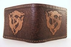 Three hares wallet by Sova Leatherworks