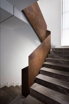 """View the full picture gallery of A House In Jerusalem – """"Frame The View"""" Black Stairs, House Photography, Corten Steel, Jerusalem, Garden Furniture, Building Design, Minimalism, Architecture, Frame"""