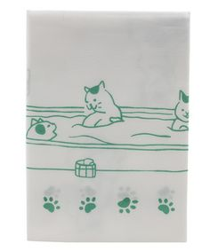 岡木綿(おかもめん)玉肌手ぬぐい 温泉猫