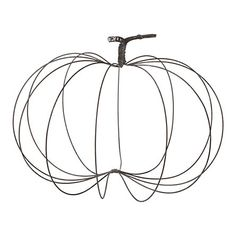 Rustic Wire Pumpkin, Large