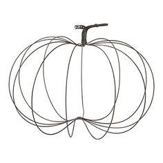Rustic Wire Pumpkin, Large
