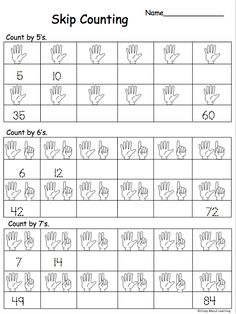 Free Skip Counting By 5s, 6s and 7s Math Worksheet