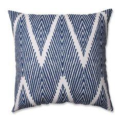 Pillow Perfect Bali Navy Throw Pillow