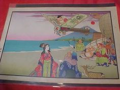 Vintage Japanese Woodblock Print of 1910 Asian Women's rights by MAYSVTG, $189.95