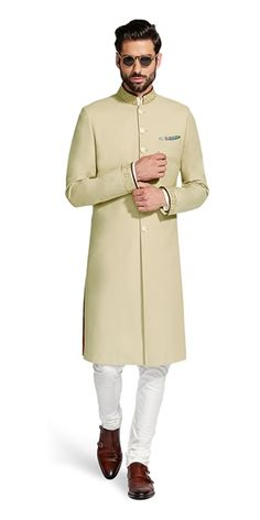 Make a style statement with our wide range of customized ethnic wear for men. View finely tailored custom made sherwani, bandhgala jacket and more at Herringbone & Sui. Indian Formal Wear, Mens Indian Wear, Indian Groom Wear, Party Wear Indian Dresses, Latest Kurta Designs, Mens Kurta Designs, Men Ethnic Wear India, Kurta Pajama Men, Custom Tailored Suits