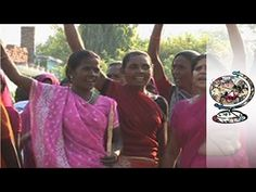 The Gulabi Gang in Uttar Pradesh India. A Group of Women Standing up for Their Rights in a Feudal Part of India.  Domestic violence. Corruption.
