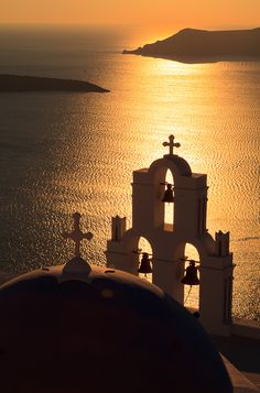 Sunset, Santorini by Chris Upton