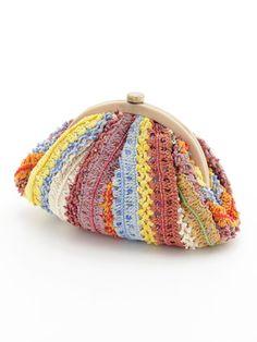 12 Twelve Agenda crochet clutch