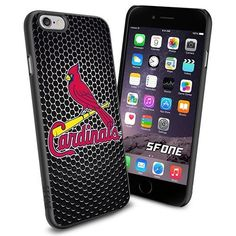 St. Louis Cardinals 1 MLB Blacknet Logo WADE5537 Baseball iPhone 6 4.7 inch Case Protection Black Rubber Cover Protector WADE CASE http://www.amazon.com/dp/B013VL9XOI/ref=cm_sw_r_pi_dp_XkdCwb04NEQ8M
