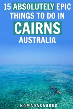 From bungee jumping, scuba diving to seeing one of world's biggest natural wonders the Great Barrier Reef, these are just some of the things to do in Cairns. Cairns is… Brisbane, Melbourne, Sydney, Australia Travel Guide, Visit Australia, Western Australia, Australia Trip, Australia Honeymoon, Queensland Australia