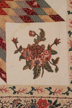 New England Quilt Museum, Lone Star with Broderie Perse, 103x105 inches, family date: c. 1830, made by Margaret Young Stansberry (b. 1770-1778), Lowell, Middlesex, Mass.