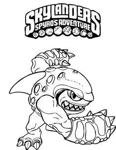 Skylanders Spyros Adventure Coloring Pages 4