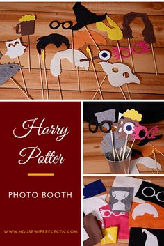 Housewife Eclectic: Harry Potter Photo Booth with a Cricut. Everything you need for a fantastic Harry Potter photo booth! #ad