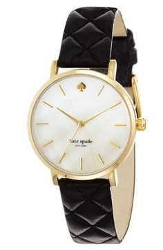 Gold and black Kate spade watch...may go on the birthday wish list?