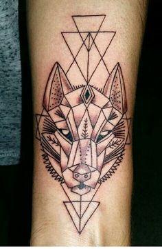 Lobo con polígonos
