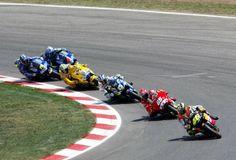 Rossi leads Capirossi, Gibernau, Biaggi, Jacque and Barros.