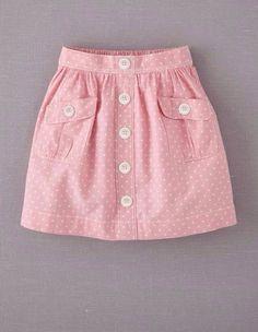 Mini Boden 'Spotty' Chambray Skirt (Little Girls & Big Girls) Baby Outfits, Kids Outfits, Fashion Kids, Girl Fashion, Chambray Skirt, Girl Dress Patterns, Sewing Patterns, Skirts For Kids, Little Girl Dresses