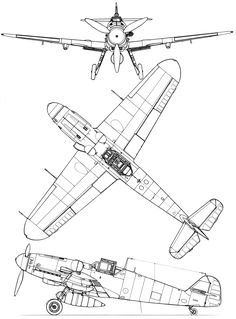 Messerschmitt Bf 109G blueprint Paper Aircraft, Ww2 Aircraft, Military Aircraft, Me 109, Luftwaffe, Blender 3d, Airplane Drawing, Airplane Crafts, Military Drawings