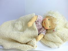 This doll consist entirely of natural materials. Doll is 19 - Body stuffed with 100% organic pure wool and has straight limbs, doll have flexible arms and legs . The doll is firmly stuffed with wool. The wool quickly became soft and doll is ready for small childrens hands. The doll