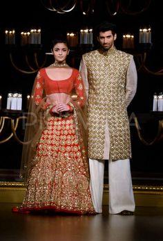 Alia & Aditya become show-stoppers for Manisha Malhotra   PINKVILLA