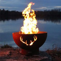 Fire Pit Art Antlers Fire Pit (ANTLERS)