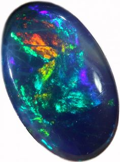2.46 CTS BLACK  OPAL - LIGHTNING RIDGE- [SOB53]  multi fires opal