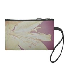 Key Coin Clutch purse with Lily design.
