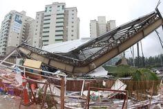 A Natureza: Tornado derruba postes e deixa 100 mil clientes sem luz em Campinas