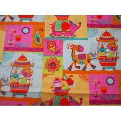 Patchwork estampado elefantes multicolor. Venta de todo tipo de estampados en patchwork en 100% algodón. Visita nuestra web, www.centrotela.es